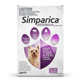 Simparica for Dogs 2.5-5 kg (5.6-11 lbs) - 3 Pack