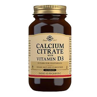 Solgar citrat de calciu cu vitamina D tablete 240 (432)