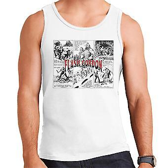 Flash Gordon Ming Attack Comic Montage Men's Vest