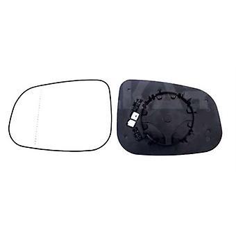 Linker passagierszijde spiegelglas (verwarmd) & houder voor VOLVO V50 2007-2012