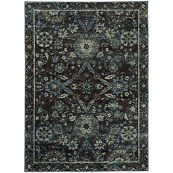 Andorra 7124a navy/ blue indoor area rug rectangle 3'3