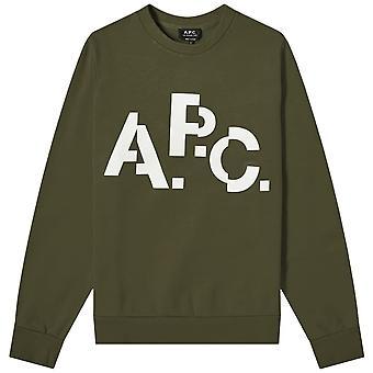 A.p.c A.P.C شعار العشارية طباعة البلوزة