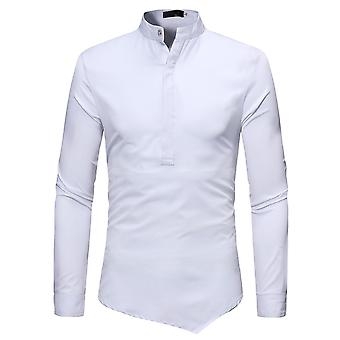 Allthemen Men's Solid Stand Collar Slim Fit Long Sleeves Pullover Shirt