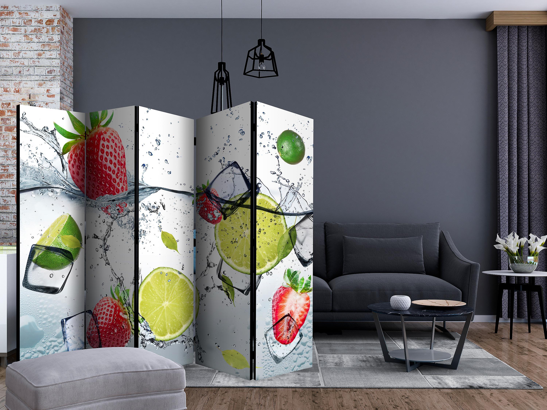 Paravent 5 volets - Fruit cocktail [Room Dividers]