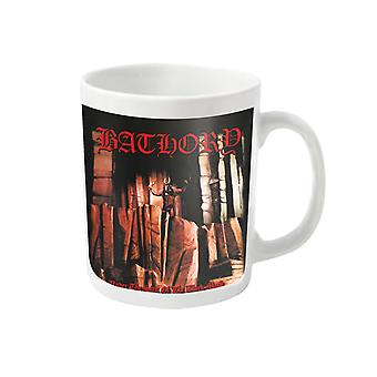 Bathory Mug Under The Sign band logo new Official White