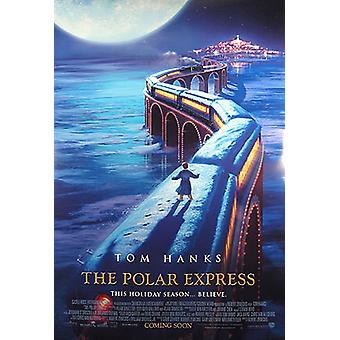 Cartel original del cine Polar Express (Double Sided International)