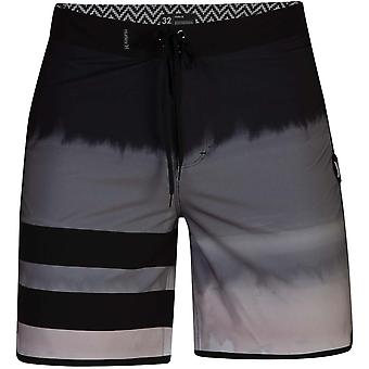 Hurley Phantom Block Party Fever Mid Length Boardshorts in Black