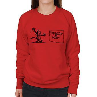 Krazy Kat Wave Women's Sweatshirt