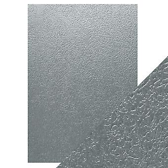 Tonic Studios A4 Craft Perfect Luxury Embossed Card, Ice Grey Glacier