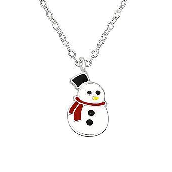Children's Sterling Silver Snowman Necklace