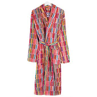 Bown of London Esat Block Striped Dressing Gown - Green/Blue/Orange