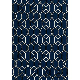 3' x 5' UV-treated Polypropylene Navy Area Rug