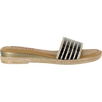 Easy Street Womens Vanna Open Toe Casual Slide Sandals