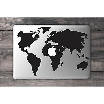 World Map Macbook Sticker - 15tum