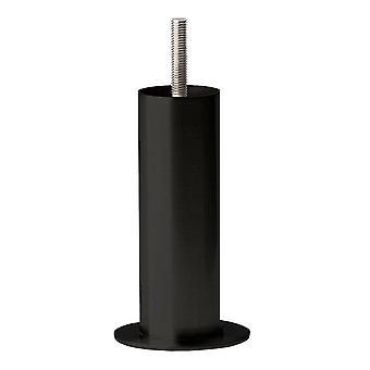Round Black Furniture Leg 14 cm (M8)