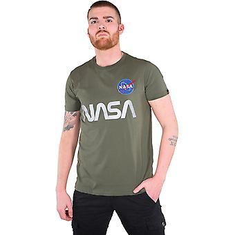 Άλφα βιομηχανίες NASA αντανακλαστικό T-shirt χακί 48