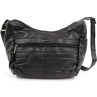 Senhoras / bolsa de ombro de couro Nappa macio elegante de Womens / bolsa