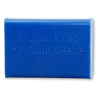 Florex Sheep's Milk Soap - Gentian fragrance and color with extract of gentian 100 g