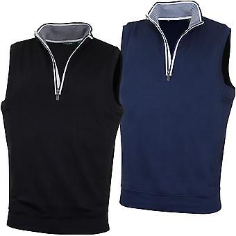 Bobby Jones Mens Lux Pima Cotton Leaderboard Golf Vest Sweater