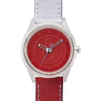 Q & Q QRP00J011Y - watch round red mixed white