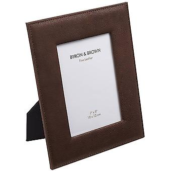 Byron and Brown Vintage Leather Photo Frame 10 x 8 - Chocolate