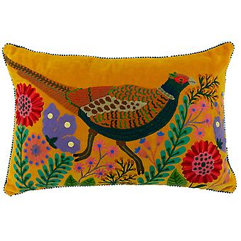 Riva Home Pheasant Design Rectangular Feather Filled Cushion