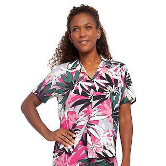 Cyberjammies 4411 Kvinnor & apos, s Layla Rosa Blommig Print Bomull Pyjamas Top