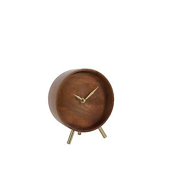 Light & Living Clock 17x7x18cm Wakino Wood-Antique Bronze