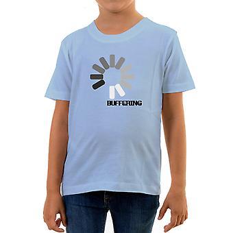 Reality glitch buffering kids t-shirt