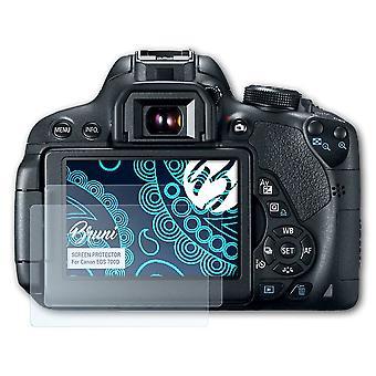 Bruni 2x Schutzfolie kompatibel mit Canon EOS 700D Folie
