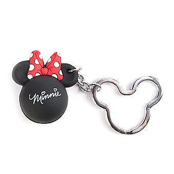 Key Chain - Disney - Minnie Bow Icon Ball Key Ring - Red Or Pink Bow New 85324