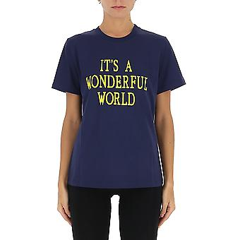 Alberta Ferretti 07011672j1290 Dames's Blue Cotton T-shirt