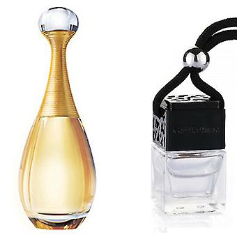 Christian Dior J'Adore For Her Inspired Fragrance 8ml Black Lid Bottle Hanging Car Vehicle Auto Air Freshener