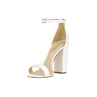 Schutz Ezgl039058 Women's White Leather Sandals