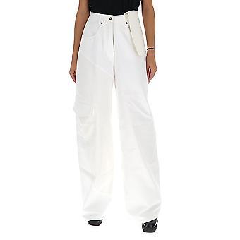 Jacquemus 193de0619351110 Women's White Denim Pants