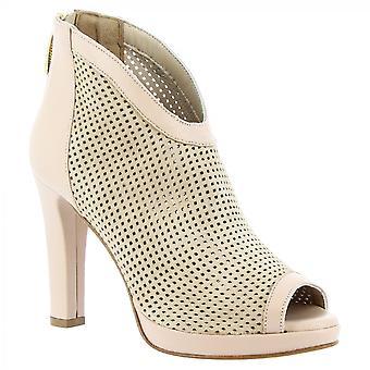 Leonardo Shoes Women's saltos artesanais abrir botas de tornozelo no pó de camurça rosa