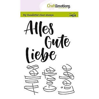 מקצועית בולים ברורים A6-הכתב-Alles Gute, ליאב (DE) קרלה קמפאיס
