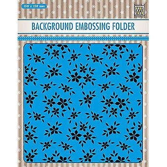 Nellie's Choice Embossing Folder Background Small flowers EEB019 150x150mm