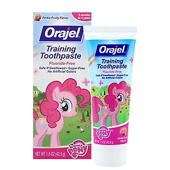 Orajel toddler training toothpaste, pink fruity, 1.5 oz