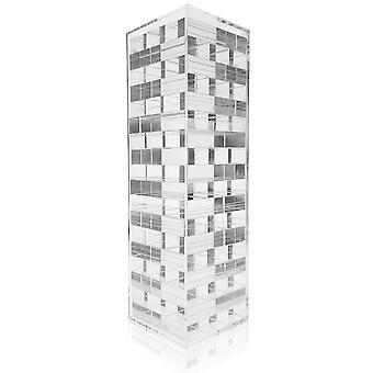 OnDisplay 3D Luxe akryyli pinoaminen torni pulma peli, kirkas