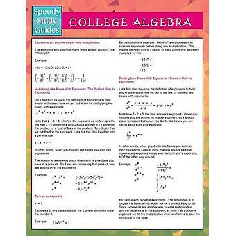 College Algebra  Speedy Study Guides by Publishing LLC & Speedy