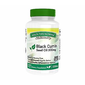 Black Seed Oil (Cold Pressed) 500 mg (non-GMO) (360 Softgels) - Health Thru Nutrition