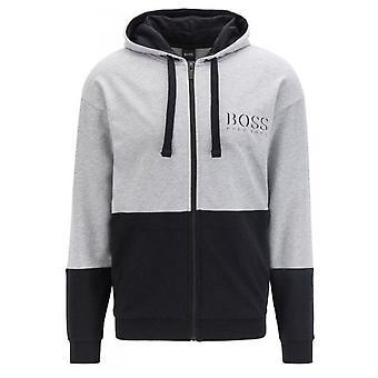 Hugo Boss Leisure Wear Hugo Boss miehet ' s harmaa/musta aito takki