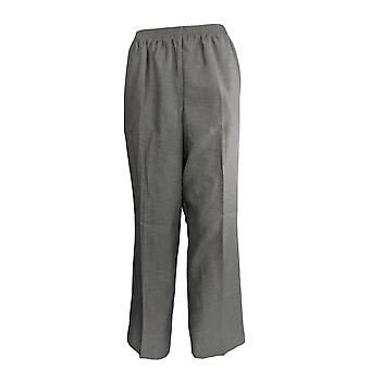 Alfred Dunner Women's Pants Elastic Waist Pull On Gray