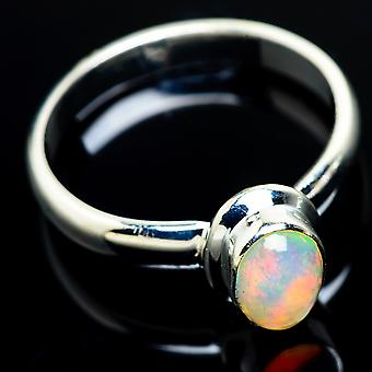 Natural Ethiopian Opal Ring Size 10 (925 Sterling Silver)  - Handmade Boho Vintage Jewelry RING7458