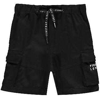Firetrap Kids Cargo Shorts Unterhosen kurze Hose elastischen Bund 2 Taschen
