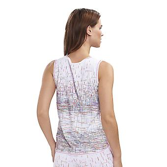 Féraud 3191267-16371 Dames's Casual Chic White Multicolour Stripe Katoenen Pyjama Top