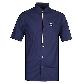 Fred Perry Taped Placket Navy Shirt