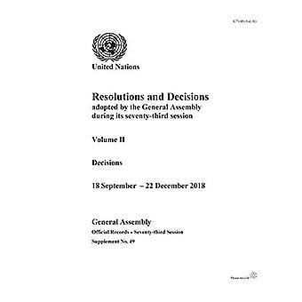 Resolutions and Decisions Adopted by the General Assembly during its