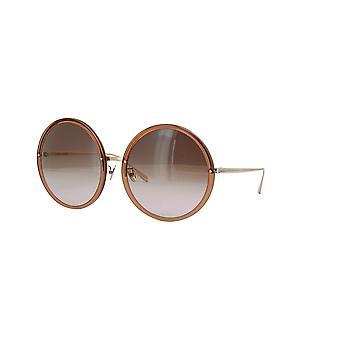Linda Farrow KEW LFL457 SUN C34 Tobacco Light Gold/Brown Gradient Sunglasses